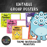 Editable Guided Reading Group Posters - Monsters