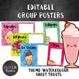 Editable Guided Reading Group Posters - Sweet Treats