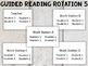 Editable Guided Reading Rotation Schedule Farmhouse Theme