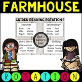 Editable Guided Reading Rotation Schedule Farmhouse Theme