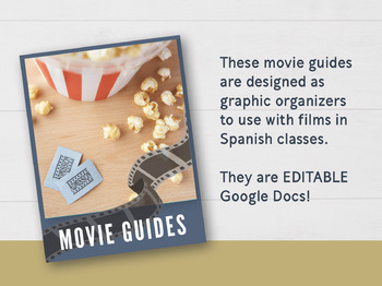 Guides/Graphic Organizers for Movies/Texts in Spanish Class #DistanceLearningTpT