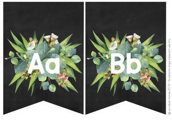 Editable Gum Leaf Alphabet Bunting
