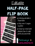 Editable Half Page Flip Book Template