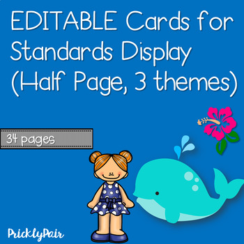Editable Half Page Standards Posters