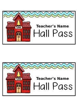 Editable Hall & Office Passes FREE