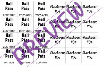 Editable Hall Pass - Bathroom Pass