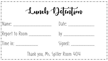 Detention Notice Template Download Slip