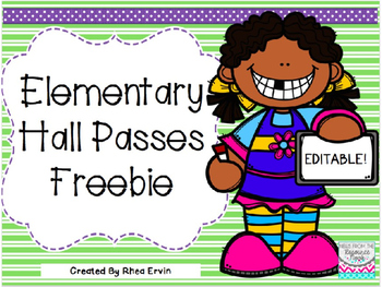 Editable Hall Passes- FREEBIE