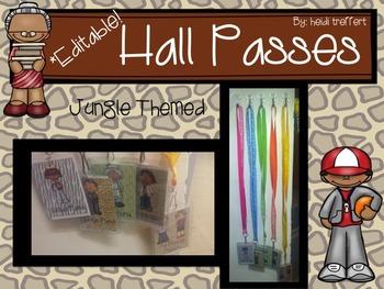*Editable* Hall Passes {Jungle Themed}