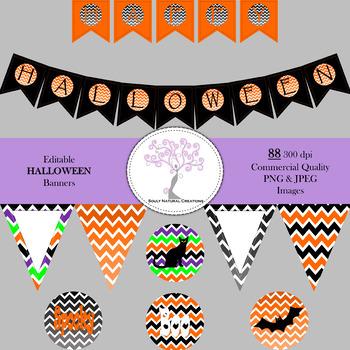 Editable Halloween Banners