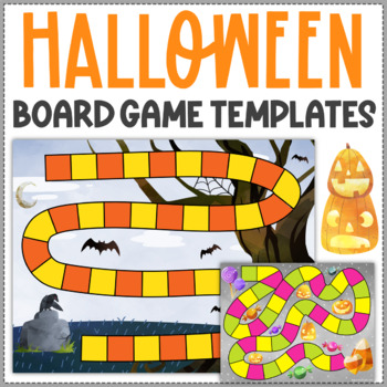 Editable Halloween Board Games and Playing Cards