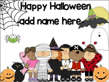 Editable Halloween Coloring Page-FREE!