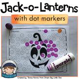 Editable Halloween Dot Marker Activity - Pumpkin Jack-o-Lanterns