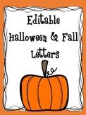 Editable Halloween Forms