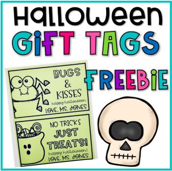 Editable Halloween Gift Tag FREEBIE