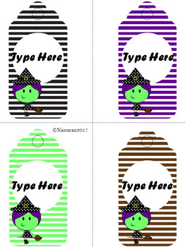 Editable Halloween Gift Tags (Large Size)