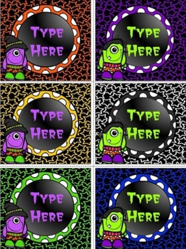 Editable Labels-Halloween Labels