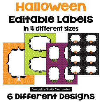 Halloween Labels (Editable)