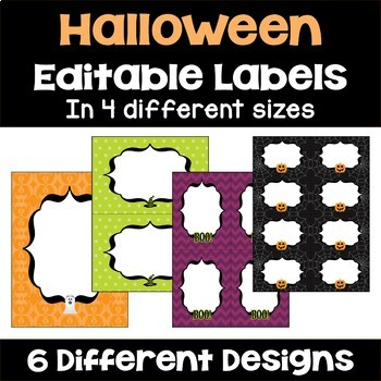 Halloween Labels and Gift Tags