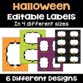 Halloween Editable Labels and Gift Tags
