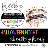 Editable Halloween Night Gift Tag Freebie