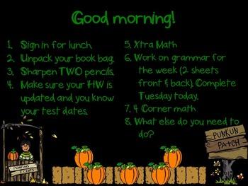 Editable Halloween PowerPoint Backgrounds