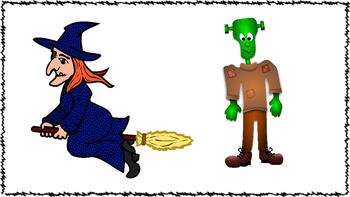 Editable Halloween Pronoun & Possessive S Speech & Language Therapy Activity