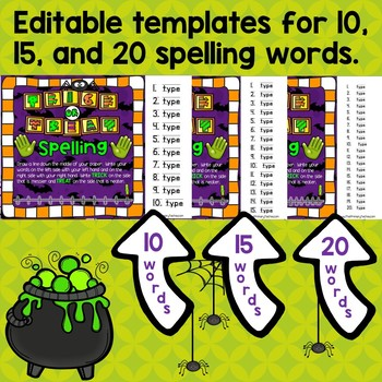 Editable Halloween Spelling Notebook