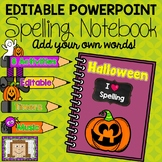 Editable Halloween Spelling Notebook