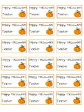 Editable Halloween Tags from the Teacher