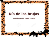 Editable Halloween problemas de sumas y restas