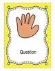 Editable Hand Signal Posters- Bright Polka Dot Set
