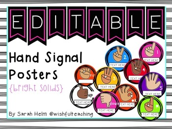 Hand Signal Posters {bright solids}
