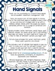 Editable Hand Signal Sign Posters in Primary Brights Dots