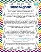 Editable Hand Signal Sign Posters in Rainbow Chevron