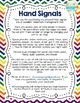 Editable Hand Signal Sign Posters in Rainbow Chevron