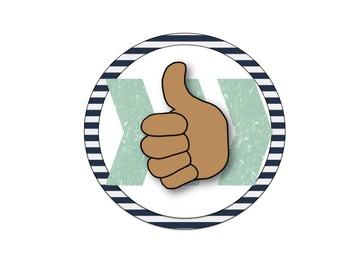 Editable Hand Signals (Classic Nautical)