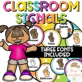 Hand Signals Editable {Polka Dot Theme}