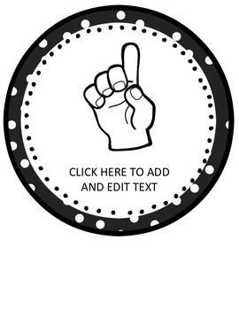 Hand Signals Editable {Polka Dot Theme}