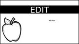 Editable Handout