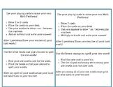Editable  Hands on IEP Task cards