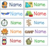 Editable Hanging Mailbox Pocket Chart Camping Themed Labels