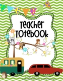 Editable Happy Woodland Campers Teacher Totebook