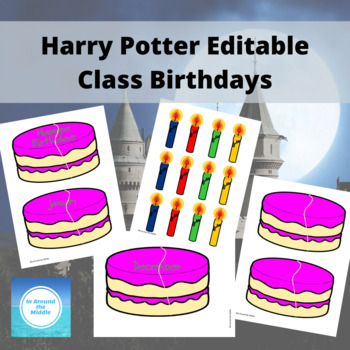 Editable Harry Potter Class Birthdays