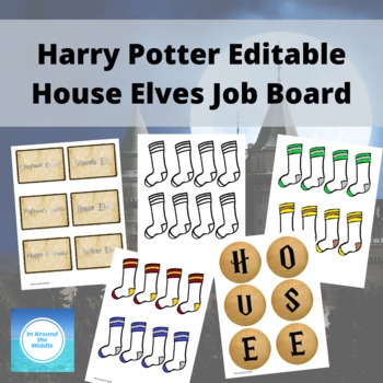 Editable Harry Potter Class Job Board