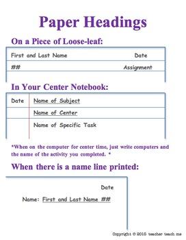 Editable Heading Reminder