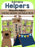 Editable Helpers {Camping, Burlap, Chevron}