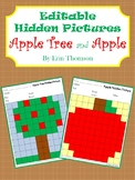 Editable Hidden Pictures ~ Apple Tree and Apple