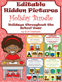 Editable Hidden Pictures ~ Holiday Bundle