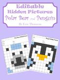 Editable Hidden Pictures ~ Polar Bear and Penguin